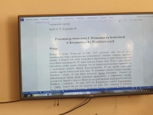 Konferencja Reimann Krosnowice styczen10